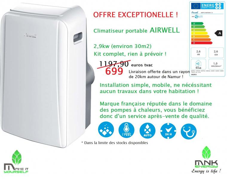 Climatiseur portable airwell